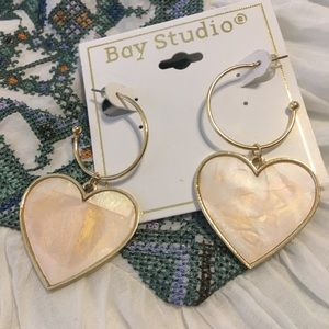 NWT💗Bay Studio Heart Earrings